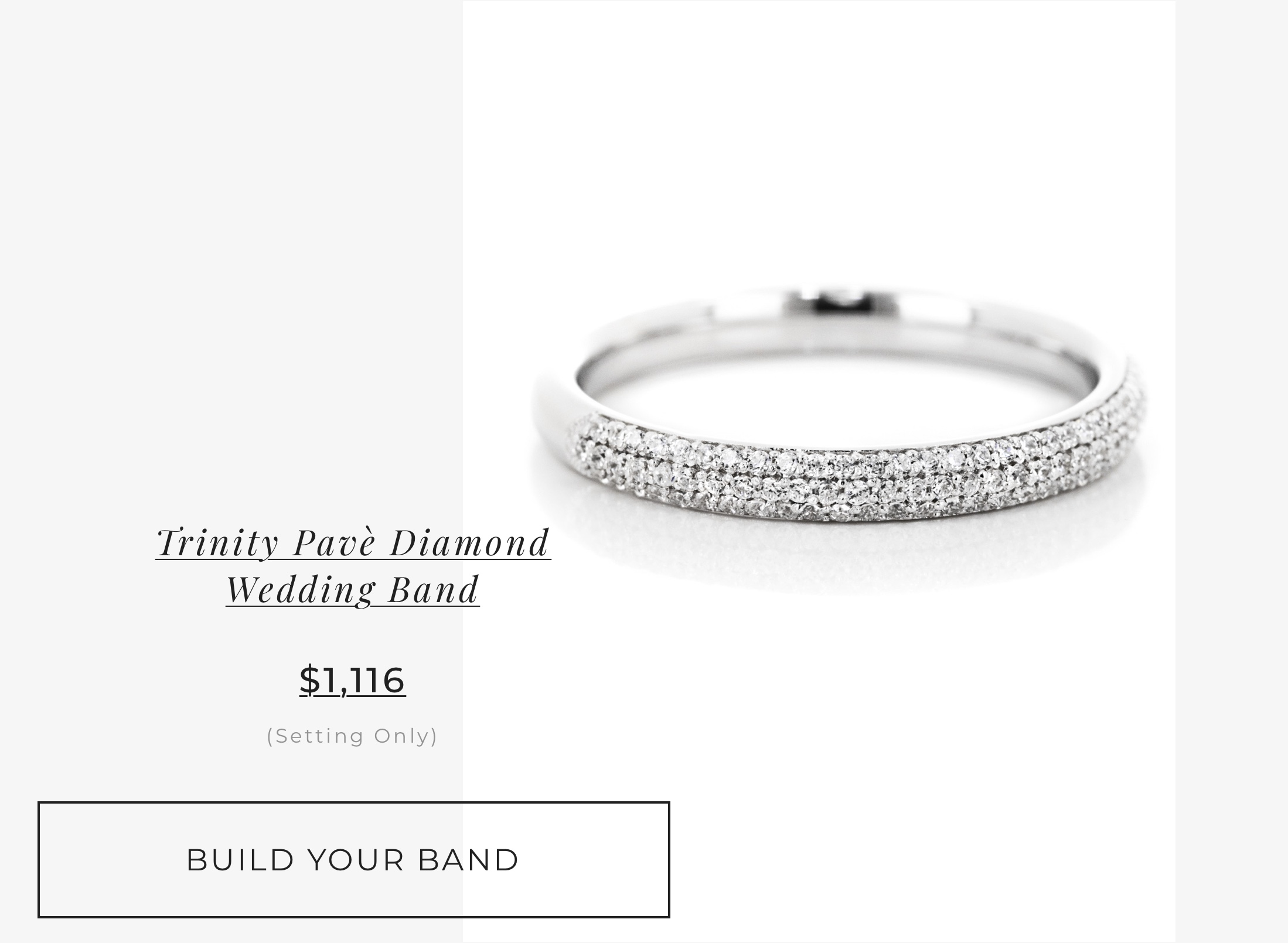 Trinity Pave' Wedding Band