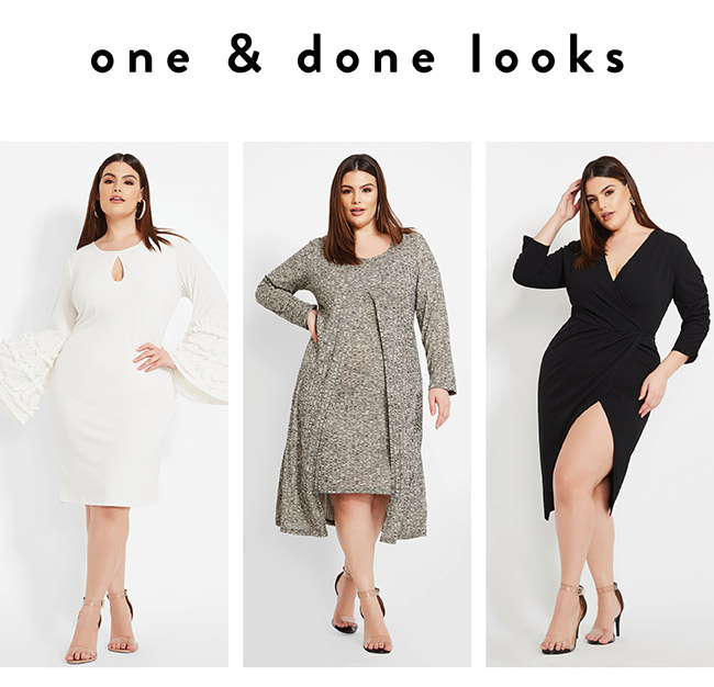 One and done looks - Shop Now