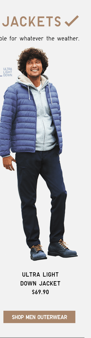 ULTRA LIGHT DOWN JACKET $69.90 - SHOP MEN