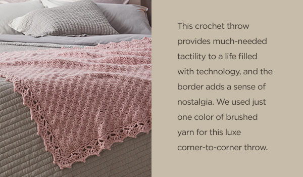 Red Heart: Featured Pattern! Corner-to-Corner Guest Throw | Milled