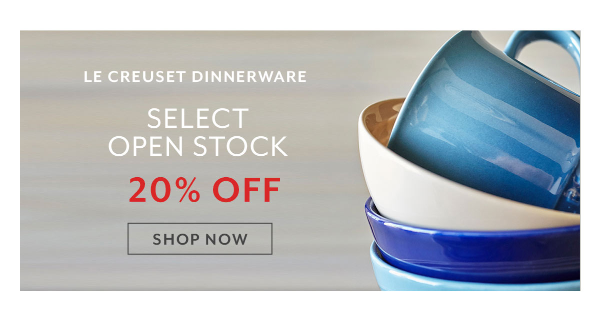 Le Creuset Dinnerware Open Stock