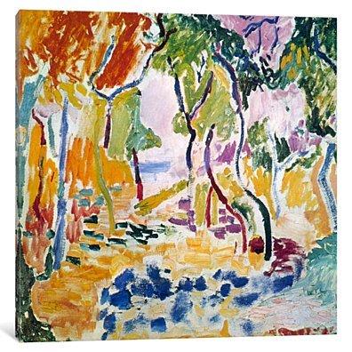 Landscape near Collioure (Study for Le Bonheur de Vivre), 1905 by Henri Matisse Canvas Print