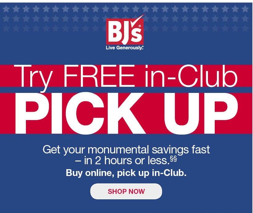 BJs Wholesale Club: Presidents Day Weekend – pick up in-Club | Milled