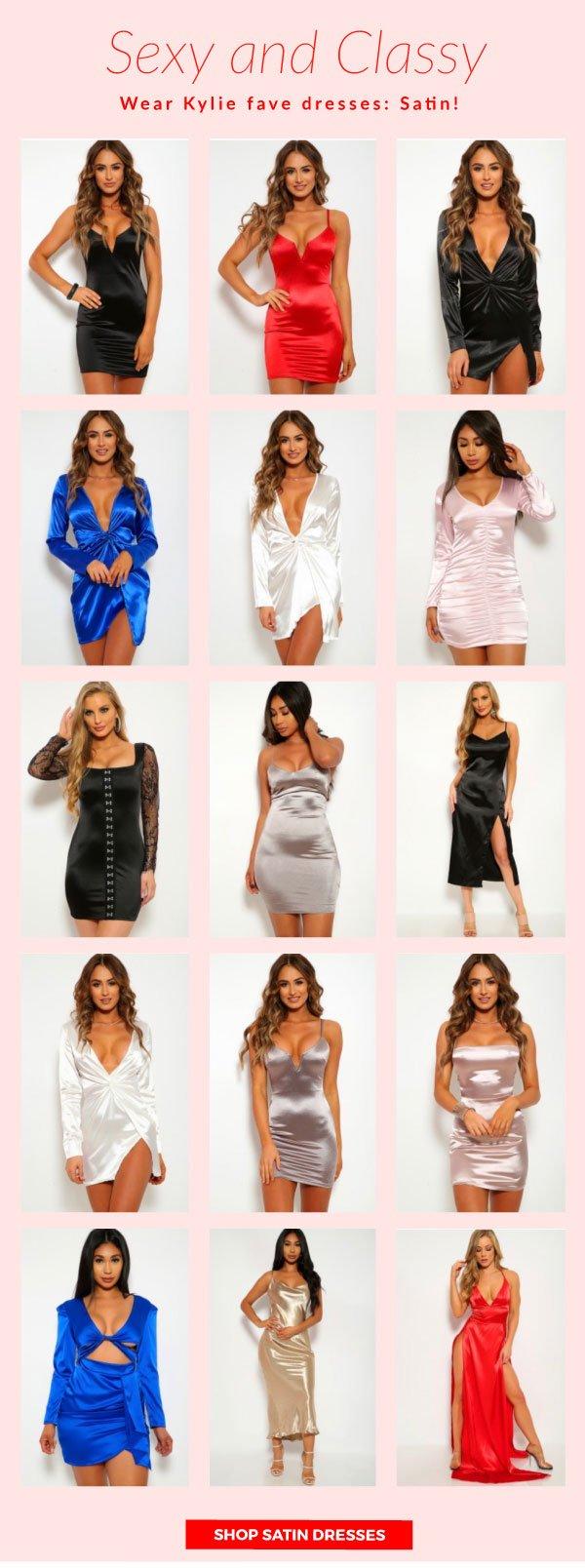 Shop Satin Dresses