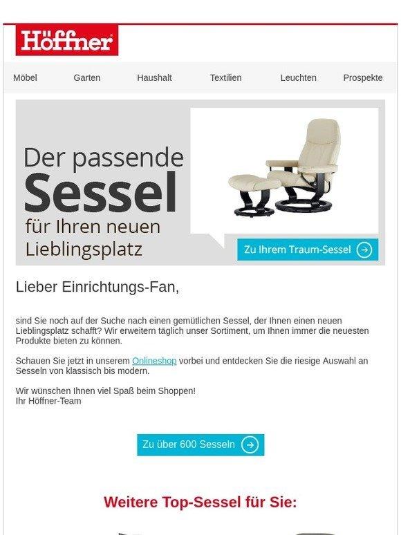 Möbel Höffner Der Passende Sessel Für Ihren Neuen Lieblingsplatz