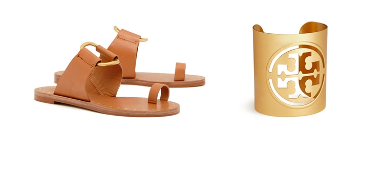 Shop the Ravello Studded Sandal and Miller Large Logo Cuff