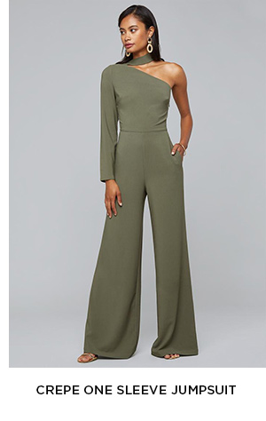 CREPE ONE SLEEVE JUMPSUIT
