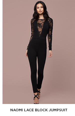 NAOMI LACE BLOCK JUMPSUIT