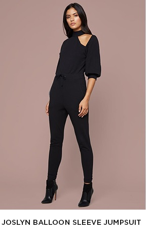JOSLYN BALLOON SLEEVE JUMPSUIT