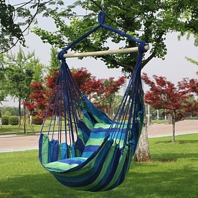Hanging Rope Hammock Chair Swing Seat | 3 colors
