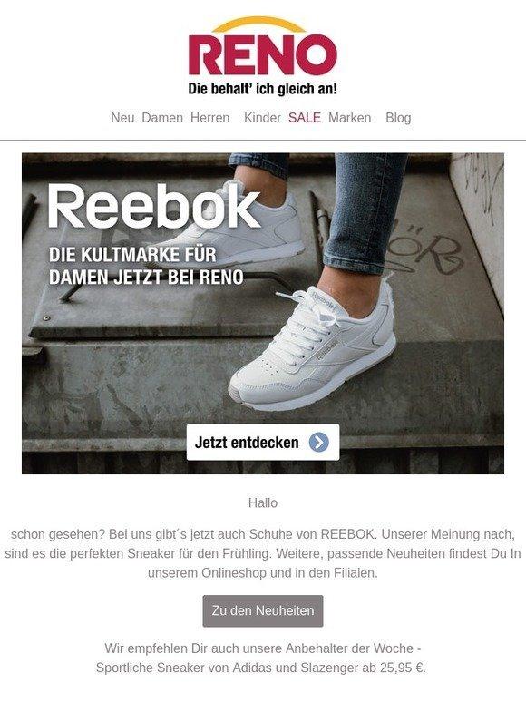 RENO AT: REEBOK neu bei RENO | Milled