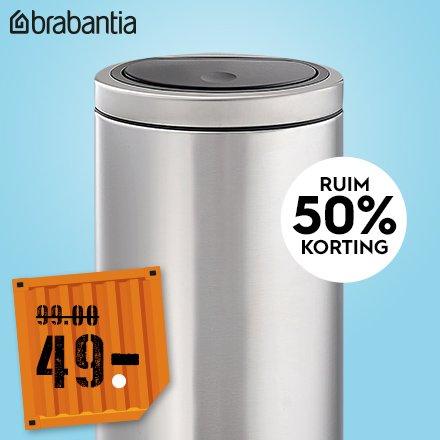 Aanbieding Brabantia Touch Bin 30 Ltr.Blokker Nl Bekijk De Nieuwste Folder Brabantia Touch Bin Voor 49