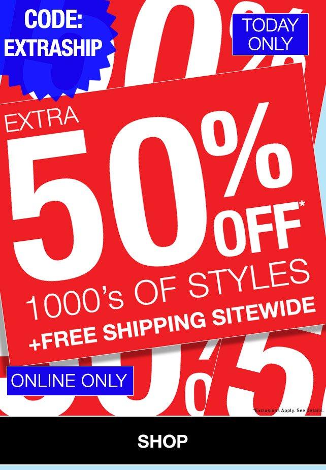 Shop extra 50