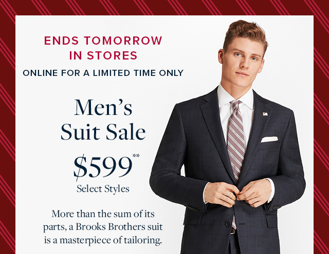 MEN'S SUIT SALE