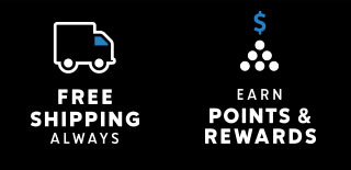 Free shipping always. Earn points and rewards