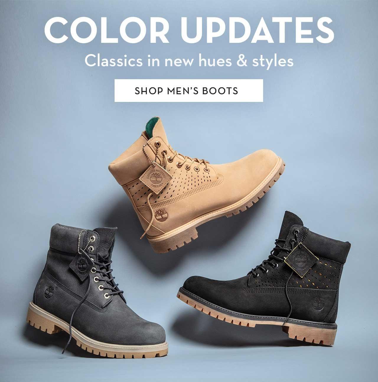 Color Updates Classics in new hues & styles Shop Men's Boots