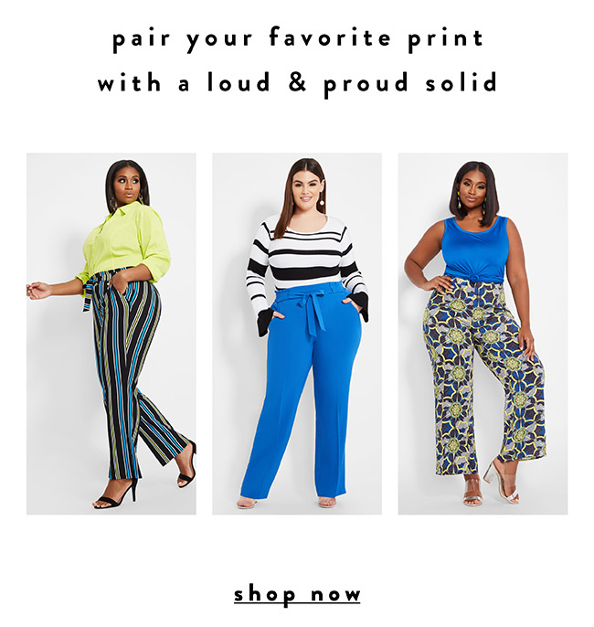 Pair your perfect print with your favorire solid - Shop Now
