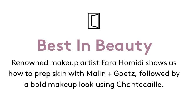 Insider beauty how-to with makeup artist Fara Homidi.