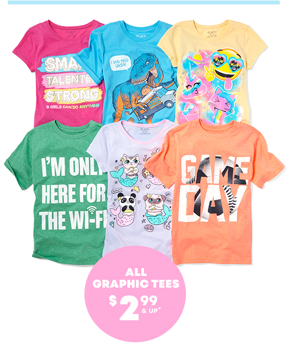 Graphic Tees $4.99 & Under