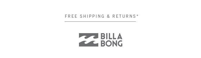Billabong | Free Shipping & Returns