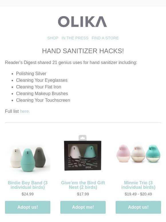 Perkin & Perkin LLC: Hand Sanitizer Hacks | Milled