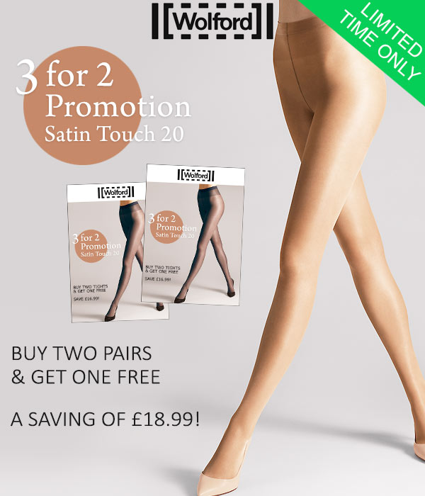 cf37ed454b8 UK Tights  Wolford Satin Touch 20 Tights 3 For 2 Promotion