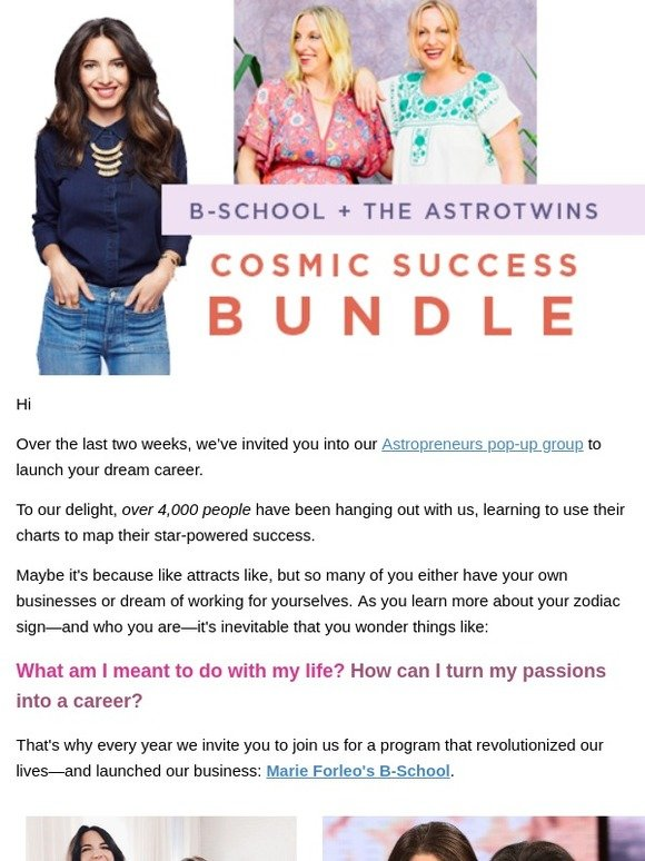 The AstroTwins: 🔥Ignite your career in 2019 | Milled