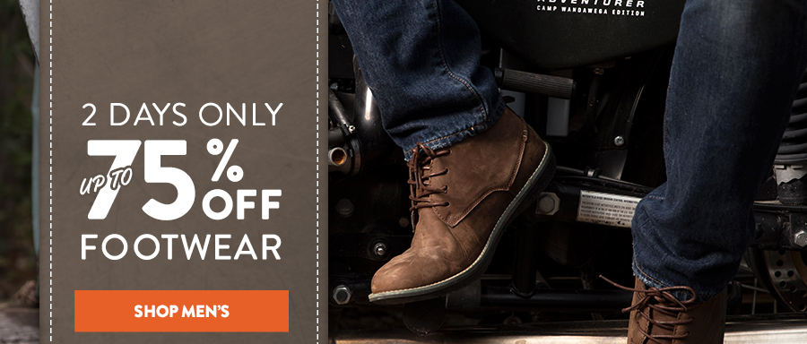 5a34da25504f Legendary Whitetails  Step into savings! Footwear 75% Off for a ...