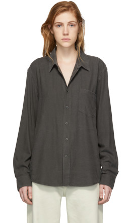 Our Legacy - Black Raw Silk Classic Shirt