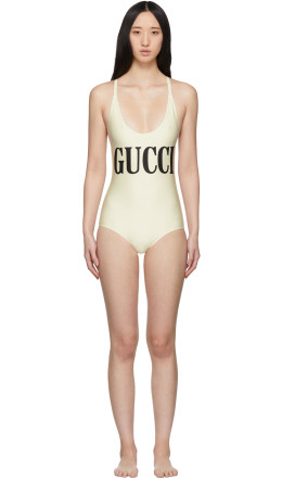 Gucci - Off-White Sparking One-Piece Swimsuit