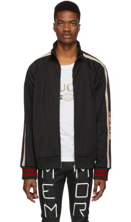 Gucci - Black Technical Logo Track Jacket