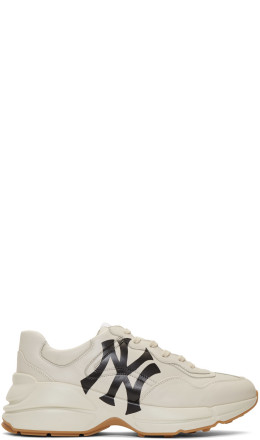 Gucci - White NY Yankees Edition Rython Sneakers
