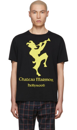 Gucci - Black & Yellow 'Chateau Marmont' T-Shirt