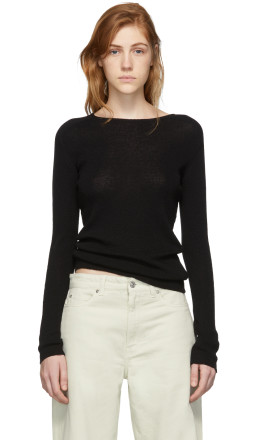 Our Legacy - Black Knit Crepe Slim Sweater
