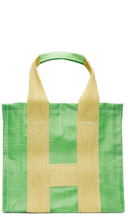 Comme des Garçons Shirt - Green & Yellow Poly Large Tote