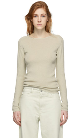 Our Legacy - Beige Knit Crepe Slim Sweater
