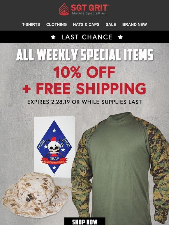 Sgt  Grit Marine Specialties: LAST CHANCE❗️DON'T MISS THIS