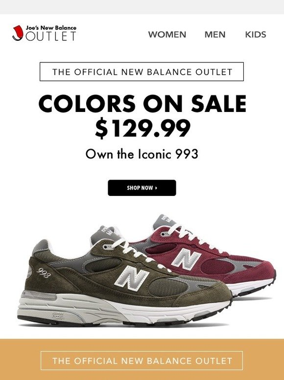 newest b89e8 303c6 NEW MARKDOWN  Iconic 993 Select Colors!