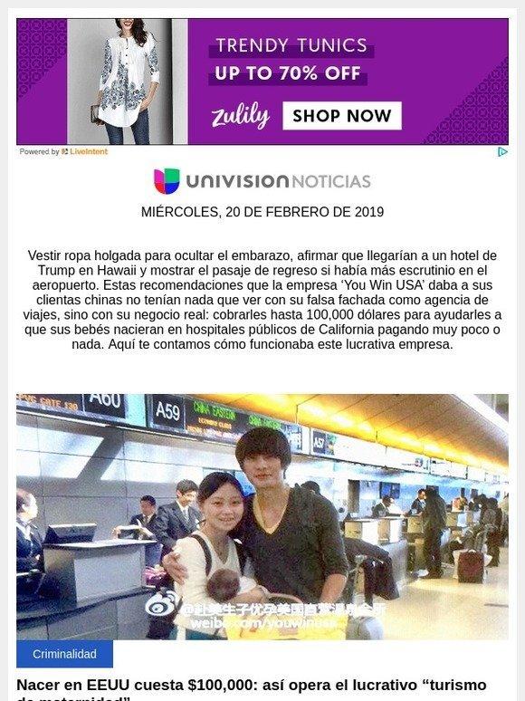 4ed6ab0a0 Univision  Nacer en EEUU cuesta  100