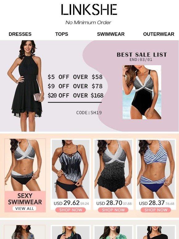 76f1259353d18 Linkshe: 8 Swimwear & 6 Tops & 2 Dresses for You! | Milled