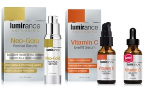 Lumirance Neo-Gold Retinol Serum and Vitamin C Eye Lift with Bonus