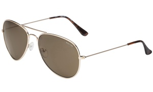 Kenneth Cole KC1288 32E Reaction Gold Aviator Sunglasses
