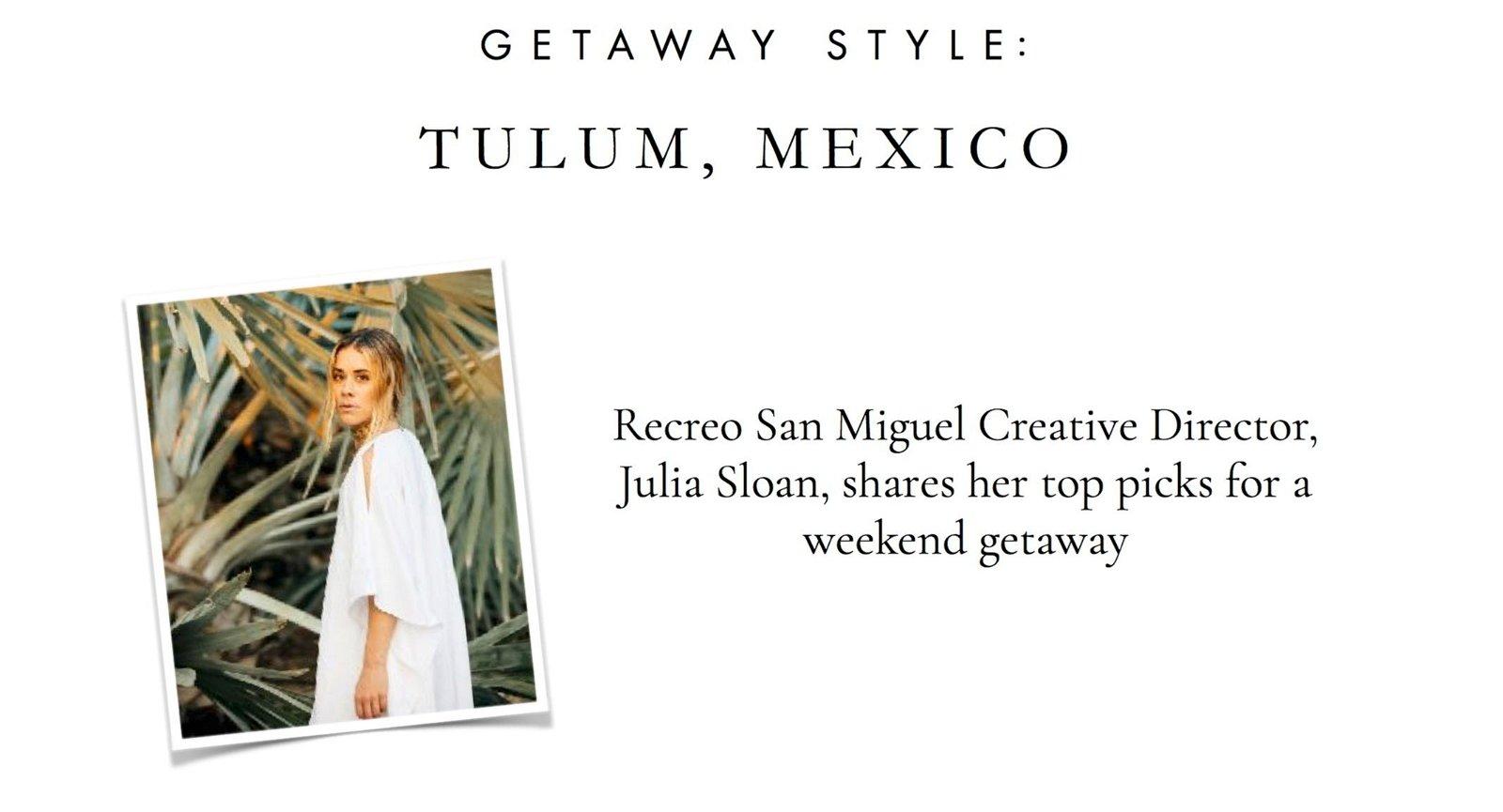 Recreo San Miguel: 25% off Resort // Getaway Style: Tulum, Mexico