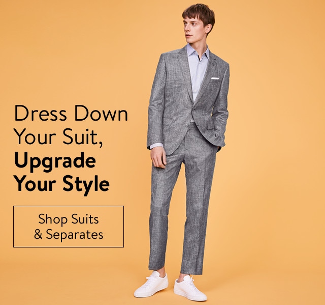 Dress down your suit, upgrade your style.