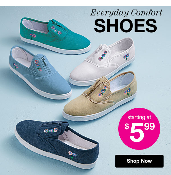 Shop Everyday Comfort Shoes!
