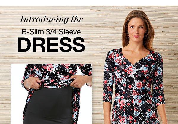 Shop B-Slim 3/4 Sleeve Dress!