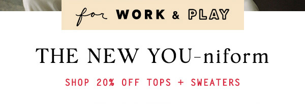 Shop 20% off tops.