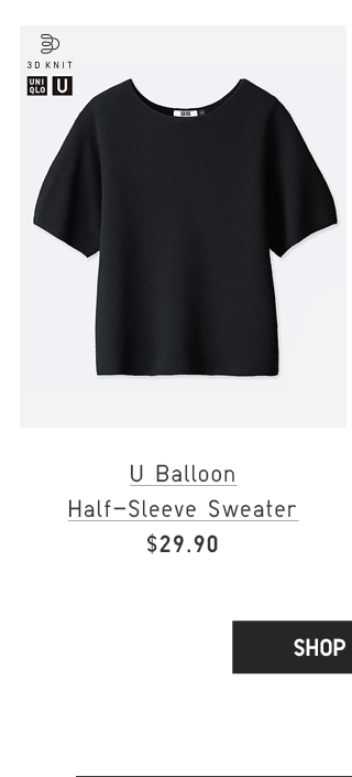 U BALLOON HALF-SLEEVE SWEATER $29.90