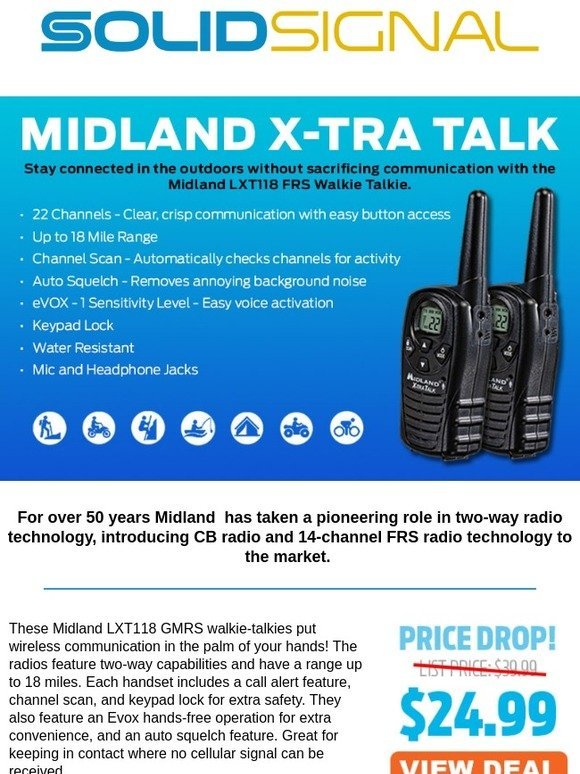 Solid Signal: Gear Up For The Outdoors With These Midland 2-Way