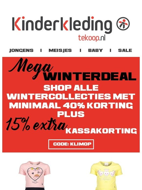 Kinderkleding 40 Korting.Kinderkleding Tekoop Nl Minimaal 40 Korting In De Wintersale 15